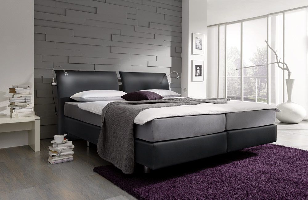 boxspringbett couture von femira in schwarz m bel letz ihr online shop. Black Bedroom Furniture Sets. Home Design Ideas
