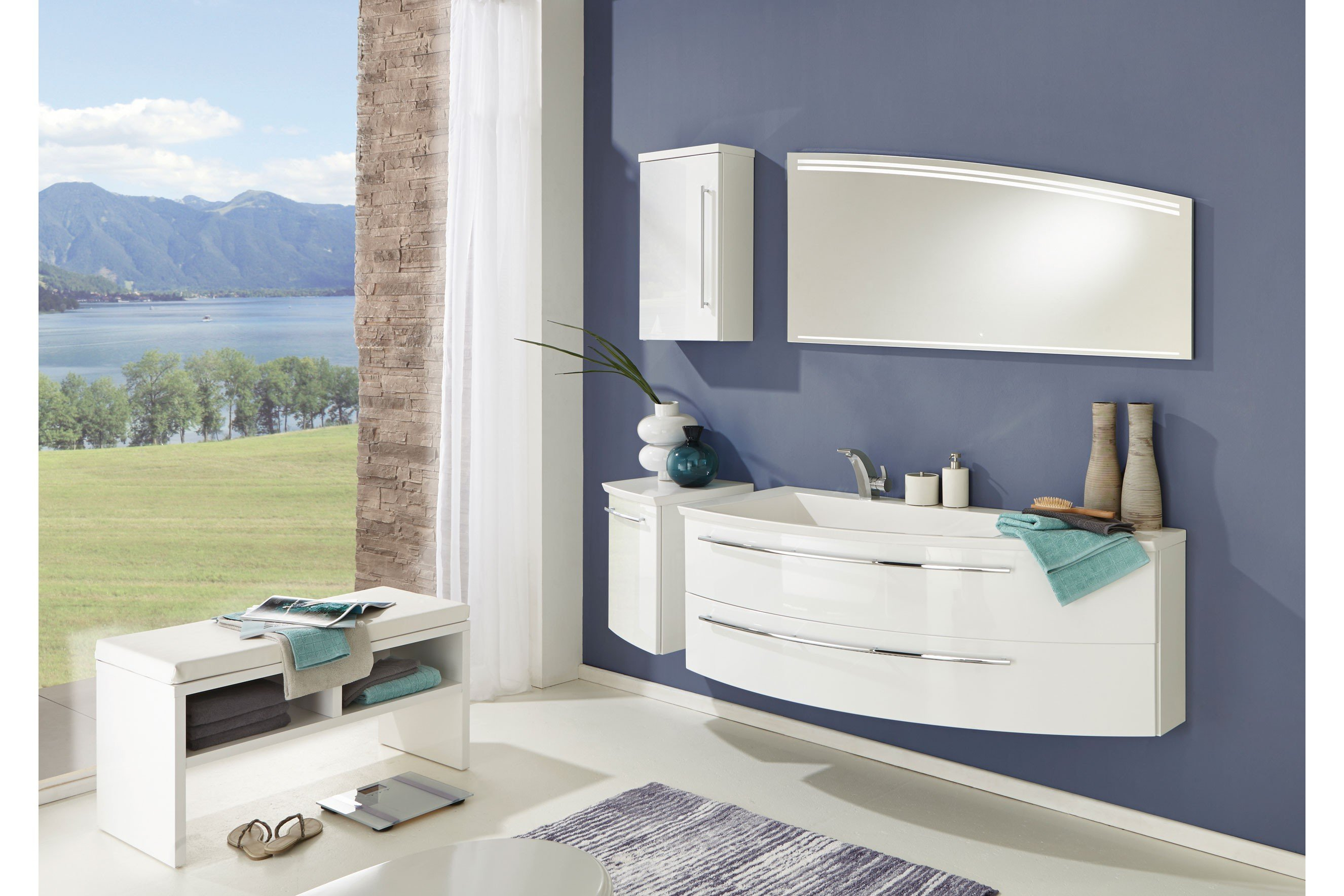 Badezimmer Crescendo in Polarweiß Hochglanz von puris | Möbel Letz ...