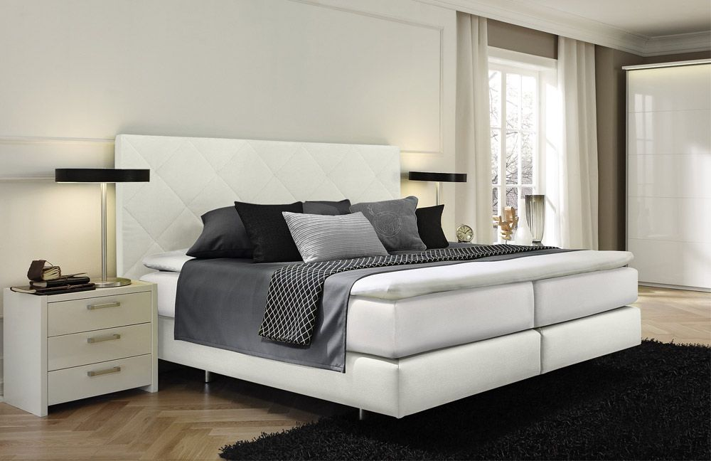 boxspringbett couture von femira in wei m bel letz ihr online shop. Black Bedroom Furniture Sets. Home Design Ideas