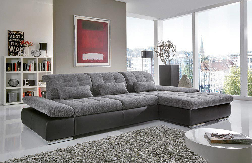 poco houston ecksofa in anthrazit schwarz m bel letz. Black Bedroom Furniture Sets. Home Design Ideas