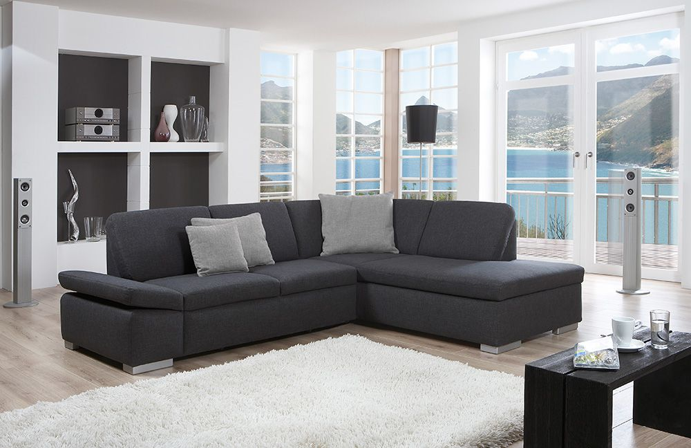 poco ecksofa cesena in anthrazit m bel letz ihr online. Black Bedroom Furniture Sets. Home Design Ideas