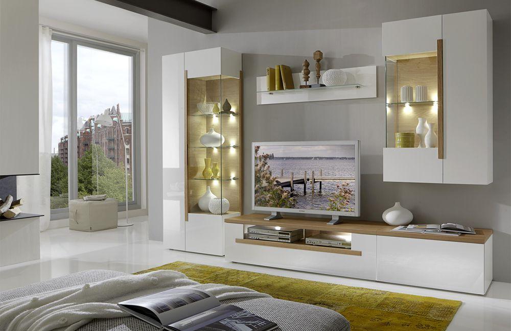 Dubai Von Domina Möbel Wohnwand 1 Weiß Hochglanz Art Nr Domina .