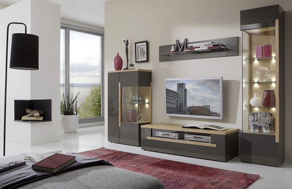 wohnwand dubai 2 lava von domina m bel m bel letz ihr online shop. Black Bedroom Furniture Sets. Home Design Ideas