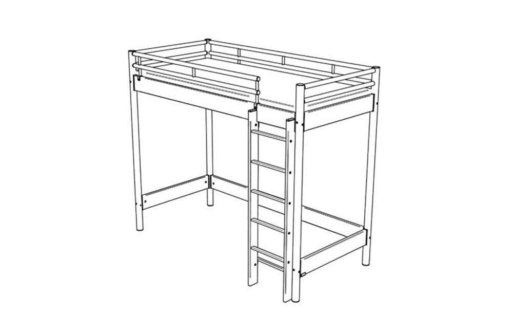 hasena space concept maxi 400 hochbett m bel letz ihr online shop. Black Bedroom Furniture Sets. Home Design Ideas
