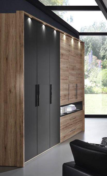 rauch manila schlafzimmer eiche schwarz m bel letz ihr online shop. Black Bedroom Furniture Sets. Home Design Ideas
