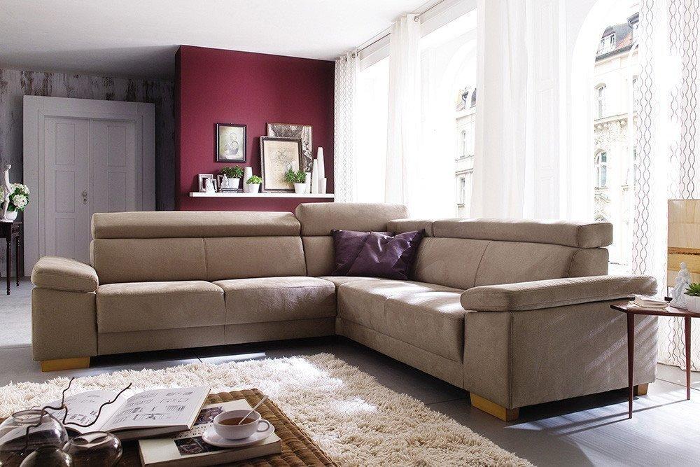 ecksofa beige. Black Bedroom Furniture Sets. Home Design Ideas