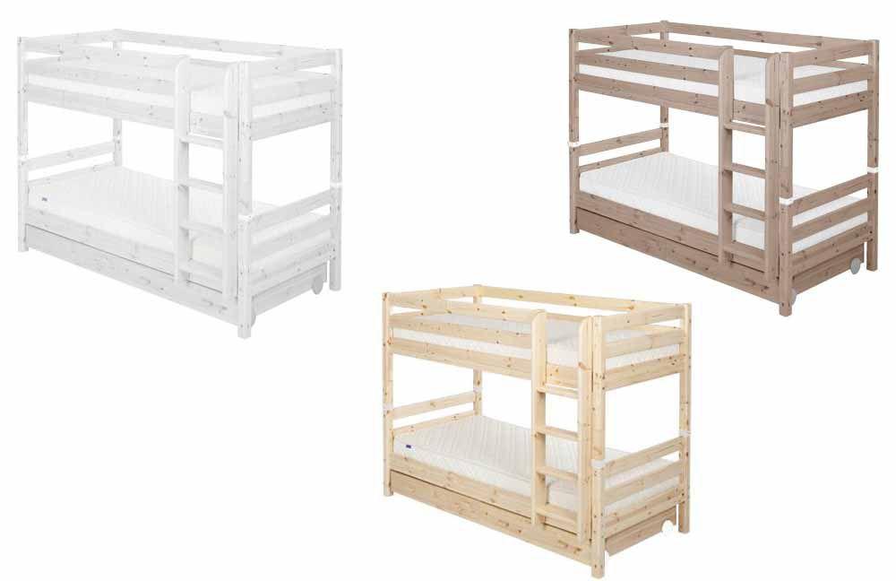 flexa etagenbett kiefer wei classic bett massiv m bel letz ihr online shop. Black Bedroom Furniture Sets. Home Design Ideas