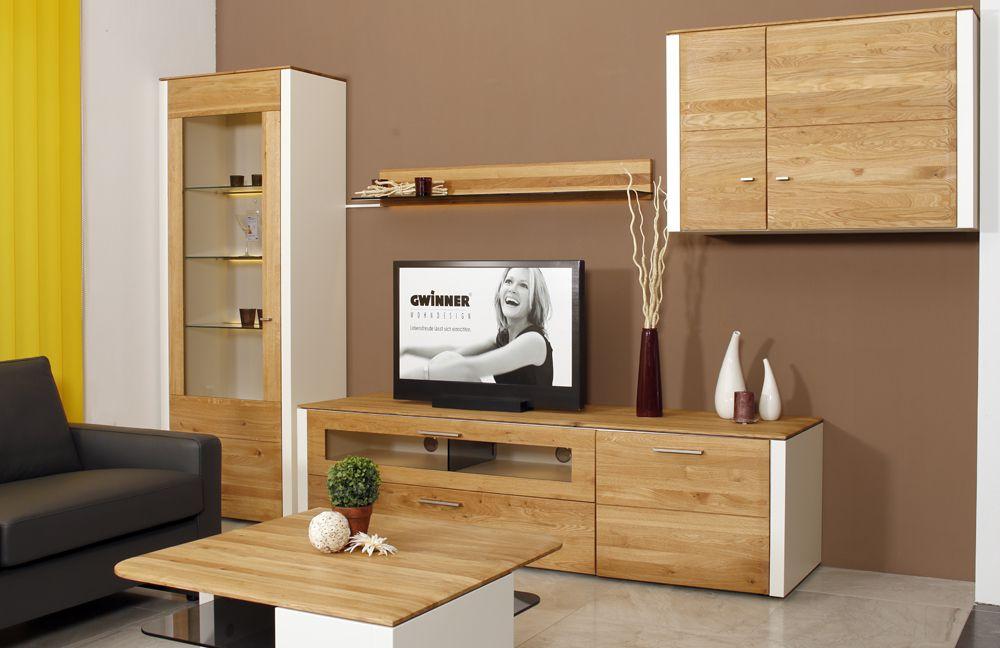 Gwinner Wohnwand Abverkauf : Wohnwand Solid Gorden SL204 Asteiche von Gwinner M?bel Letz  Ihr