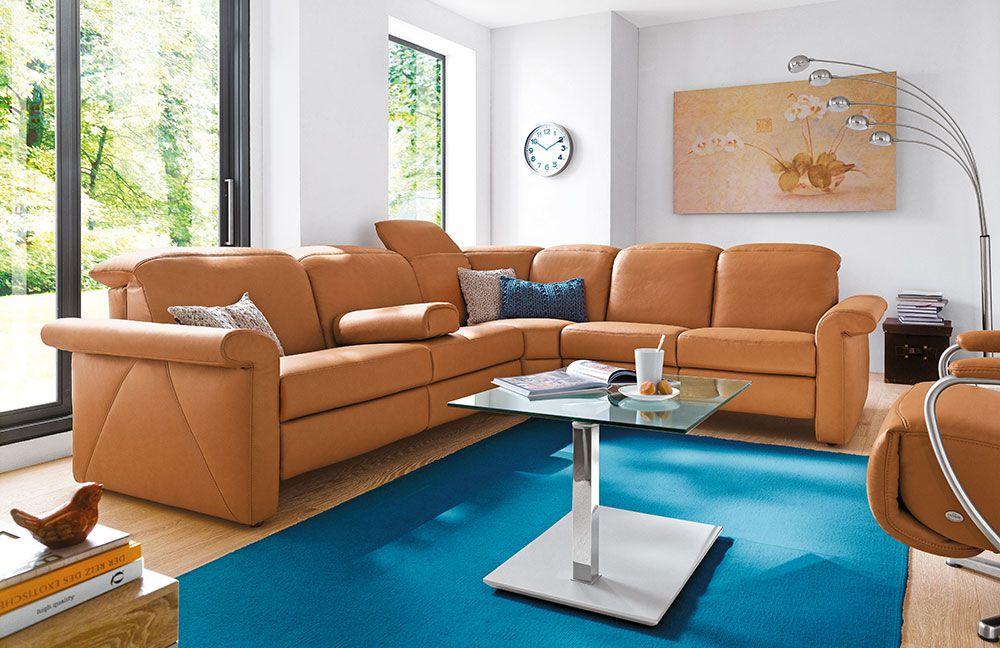 Claude von Casada Ledergarnitur braun   Möbel Letz - Ihr Online-Shop