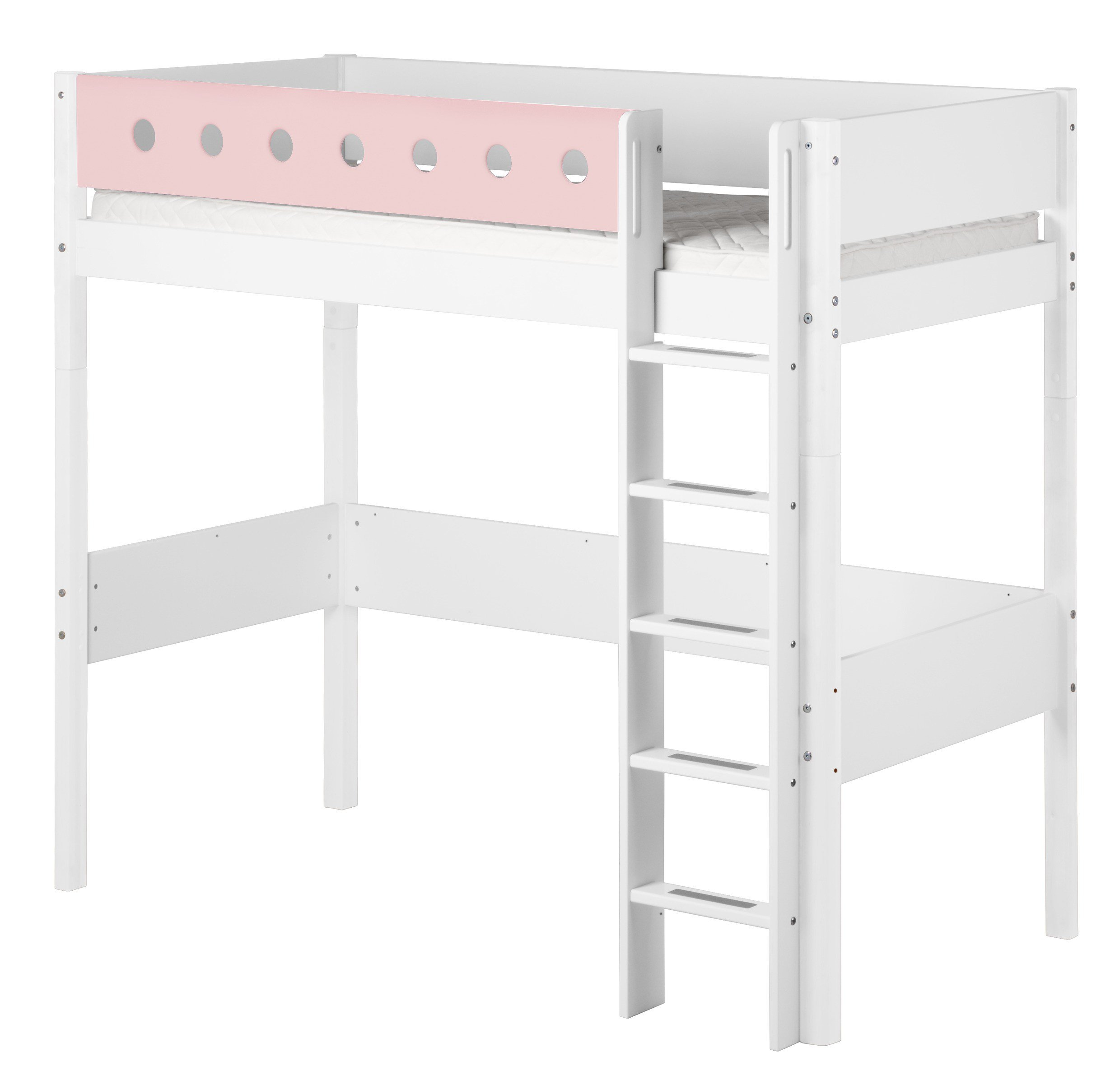 flexa white hochbett mit senkrechter leiter m bel letz ihr online shop. Black Bedroom Furniture Sets. Home Design Ideas
