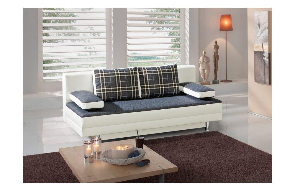 Schlafsofa Essen in weiß / anthrazit von Select Style. Möbel Letz ...