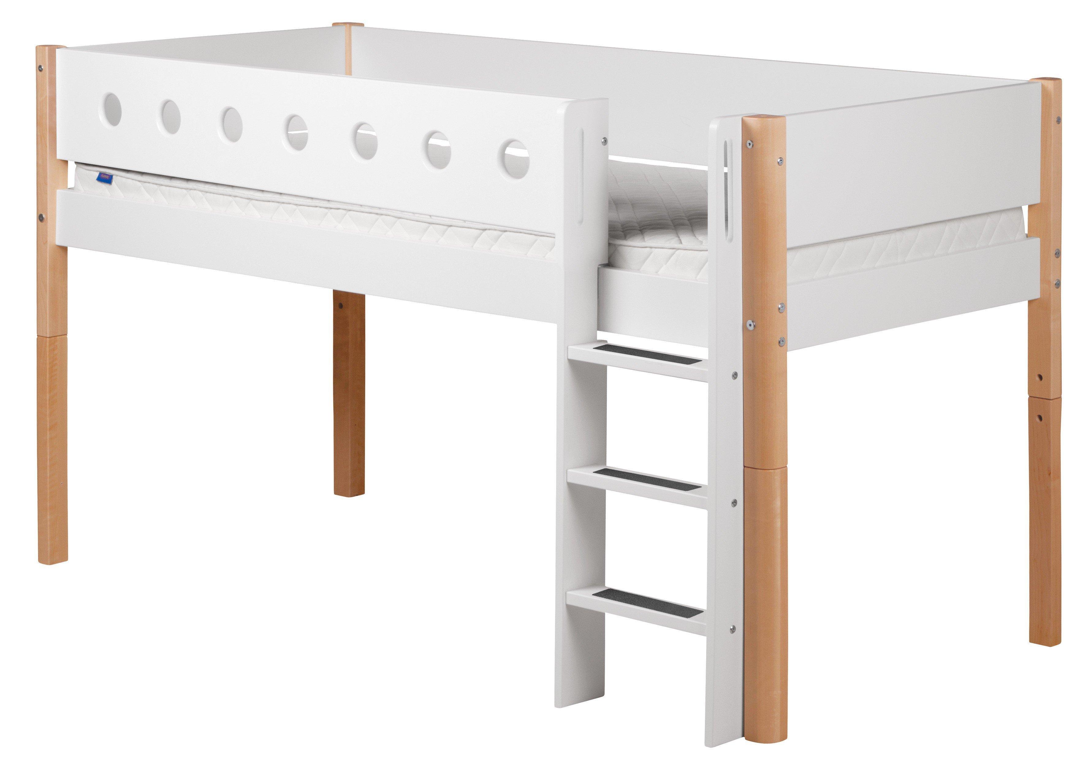 Flexa White Halbhohes Bett Mit Senkrechter Leiter Weiß Natur