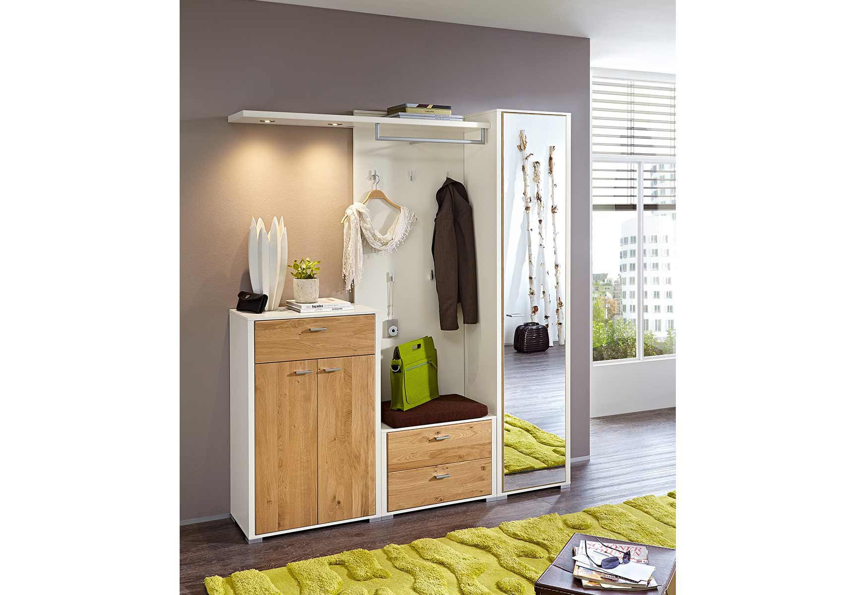 garderobe florenz von leinkenjost in lack wei mit masiver. Black Bedroom Furniture Sets. Home Design Ideas