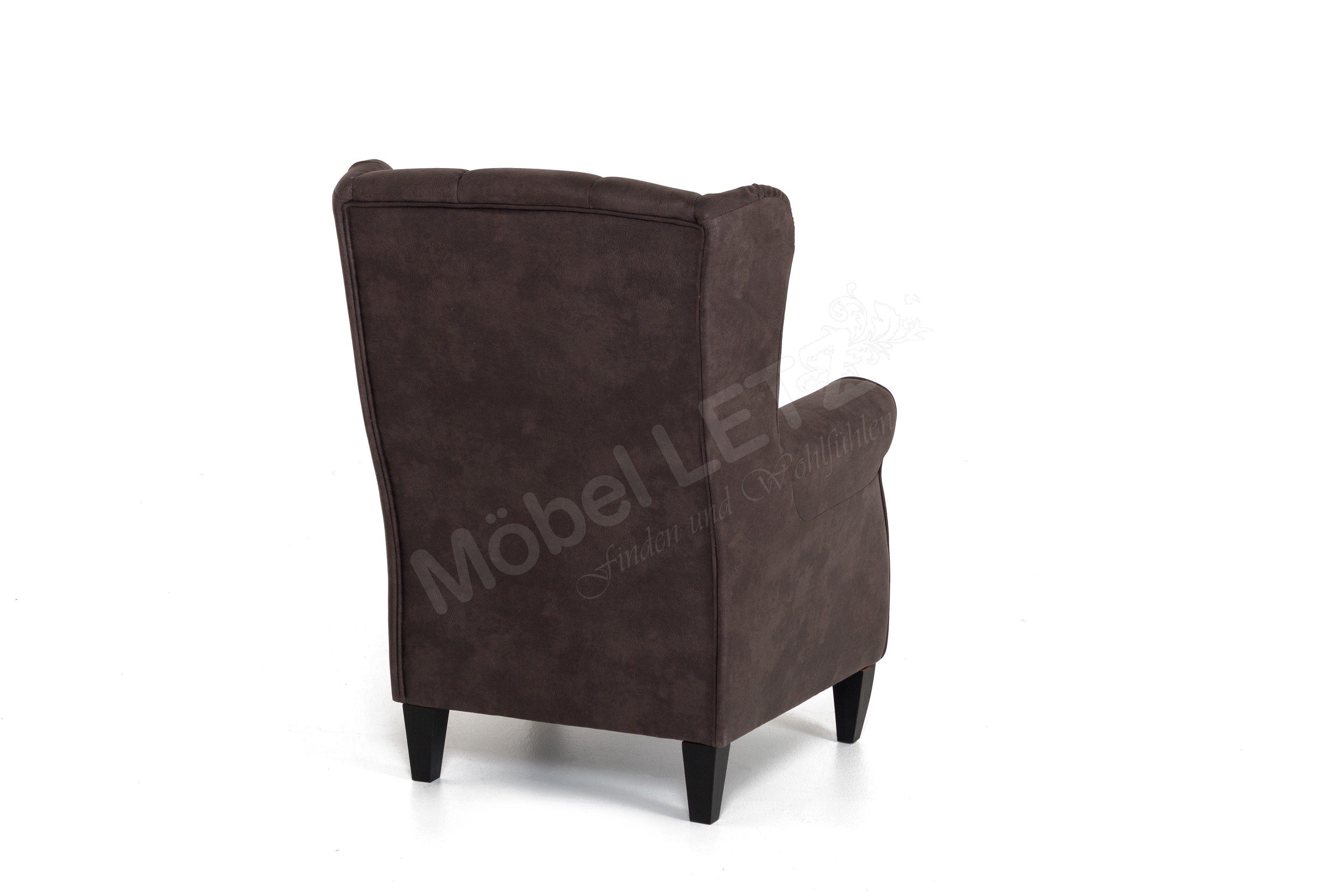 dfm polsterm bel sherman sessel in braun m bel letz. Black Bedroom Furniture Sets. Home Design Ideas