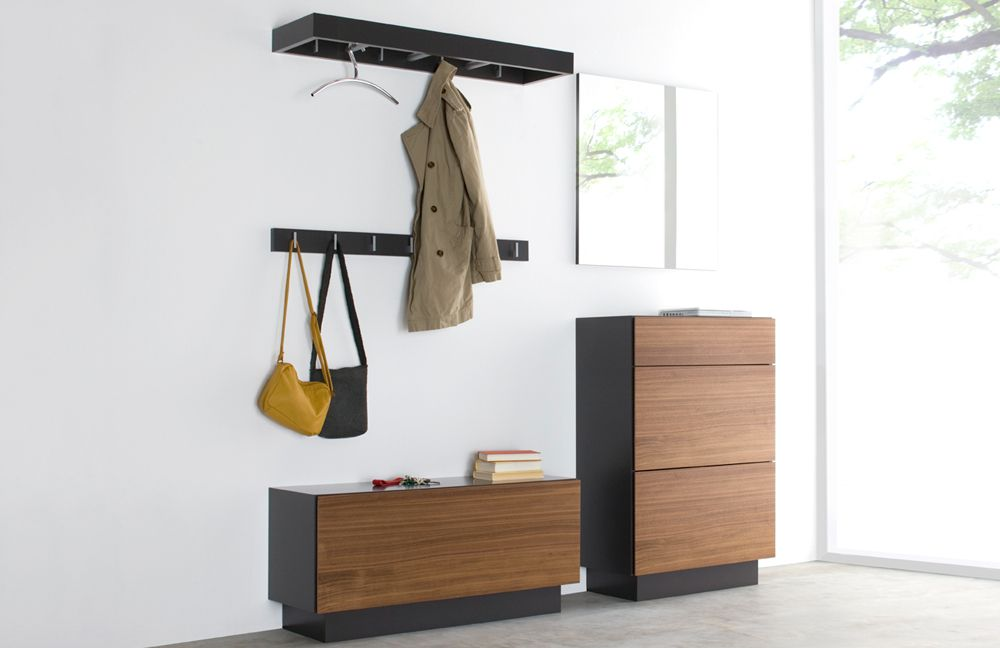 garderobe nexus in nussbaum natur glattlack quarz von. Black Bedroom Furniture Sets. Home Design Ideas