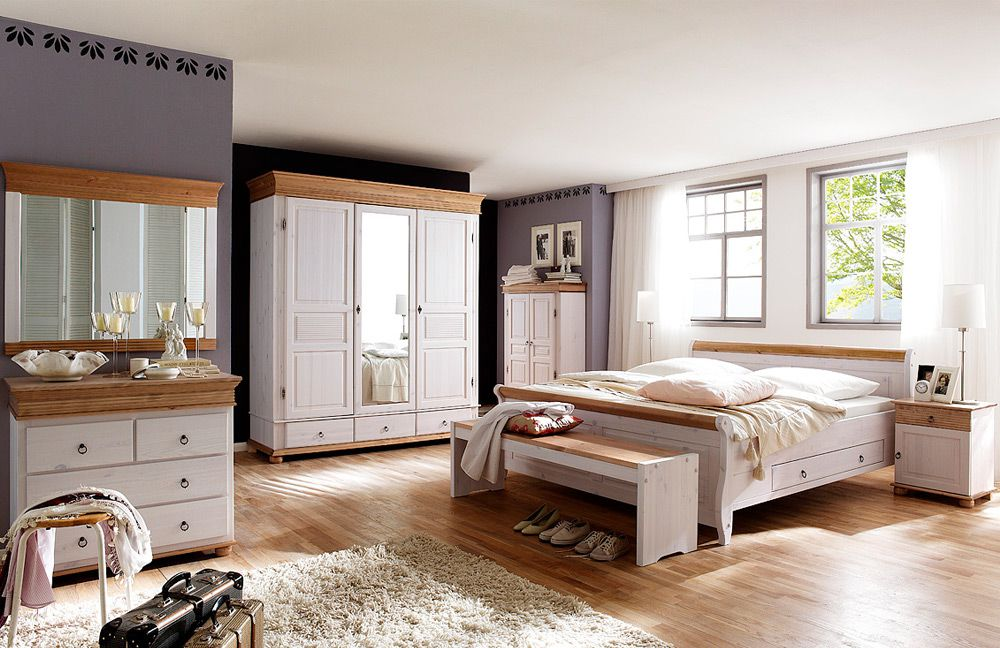 massivholz schlafzimmer im landhausstil oslo alesund von euro diffusion in wei antik m bel letz. Black Bedroom Furniture Sets. Home Design Ideas