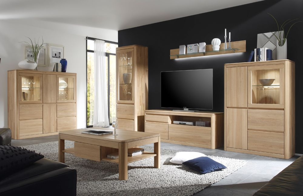 wohnwand 1 n bozen 1161 955 85 eiche bianco 4 teilig von inter furn m bel letz ihr online shop. Black Bedroom Furniture Sets. Home Design Ideas