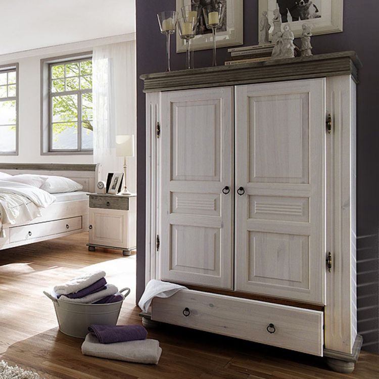 ... Oslo Von Euro Diffusion   Schlafzimmer Weiß/ Grau Abgesetzt ...
