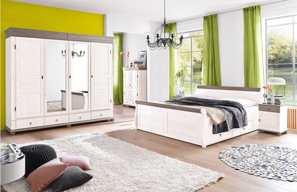 euro diffusion schlafzimmer oslo landhausstil wei m bel letz ihr online shop. Black Bedroom Furniture Sets. Home Design Ideas
