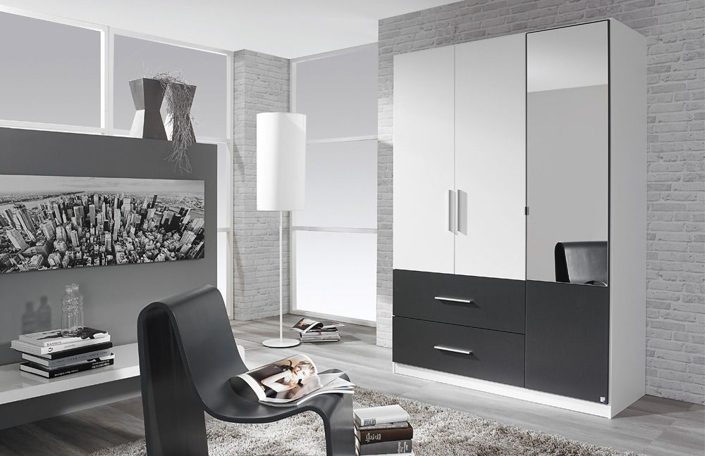 rauch alvor kleiderschrank wei grau m bel letz ihr. Black Bedroom Furniture Sets. Home Design Ideas