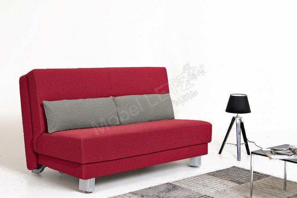 schlafsofa enzo von sedaro im strahlenden rot m bel letz. Black Bedroom Furniture Sets. Home Design Ideas