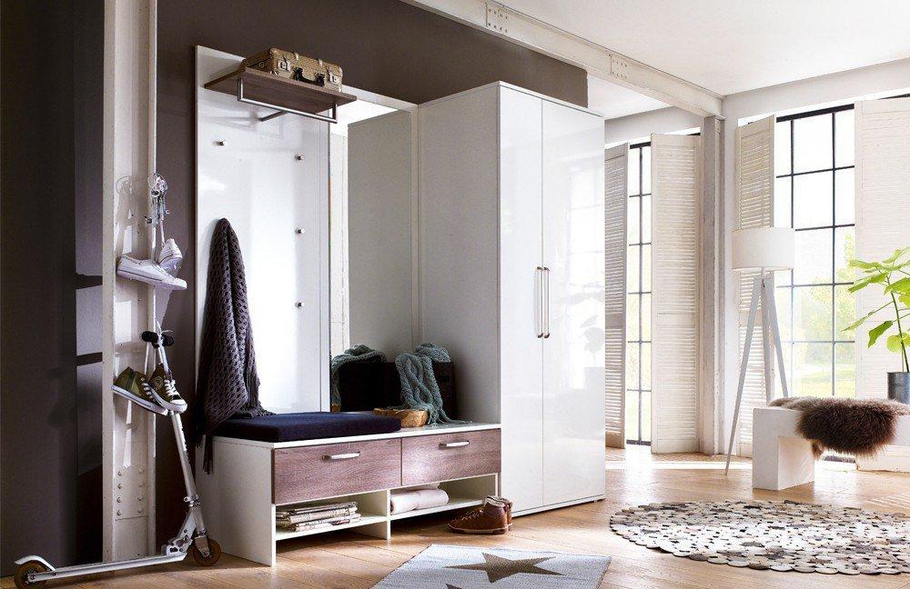garderobe roubaix wei tr ffel eiche von wittenbreder. Black Bedroom Furniture Sets. Home Design Ideas