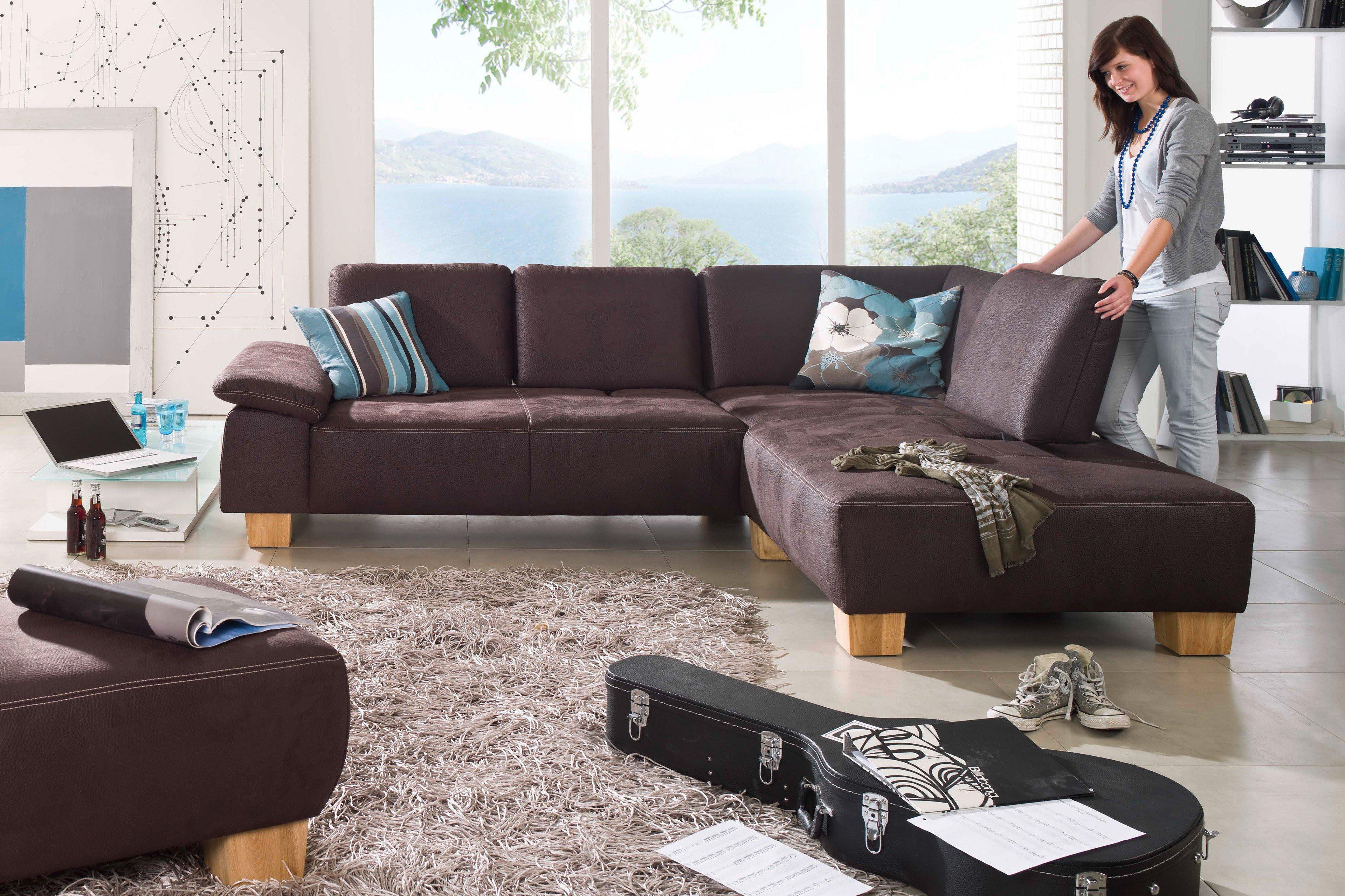 F+S Polstermöbel 2126 Miami Ecksofa braun | Möbel Letz - Ihr Online-Shop