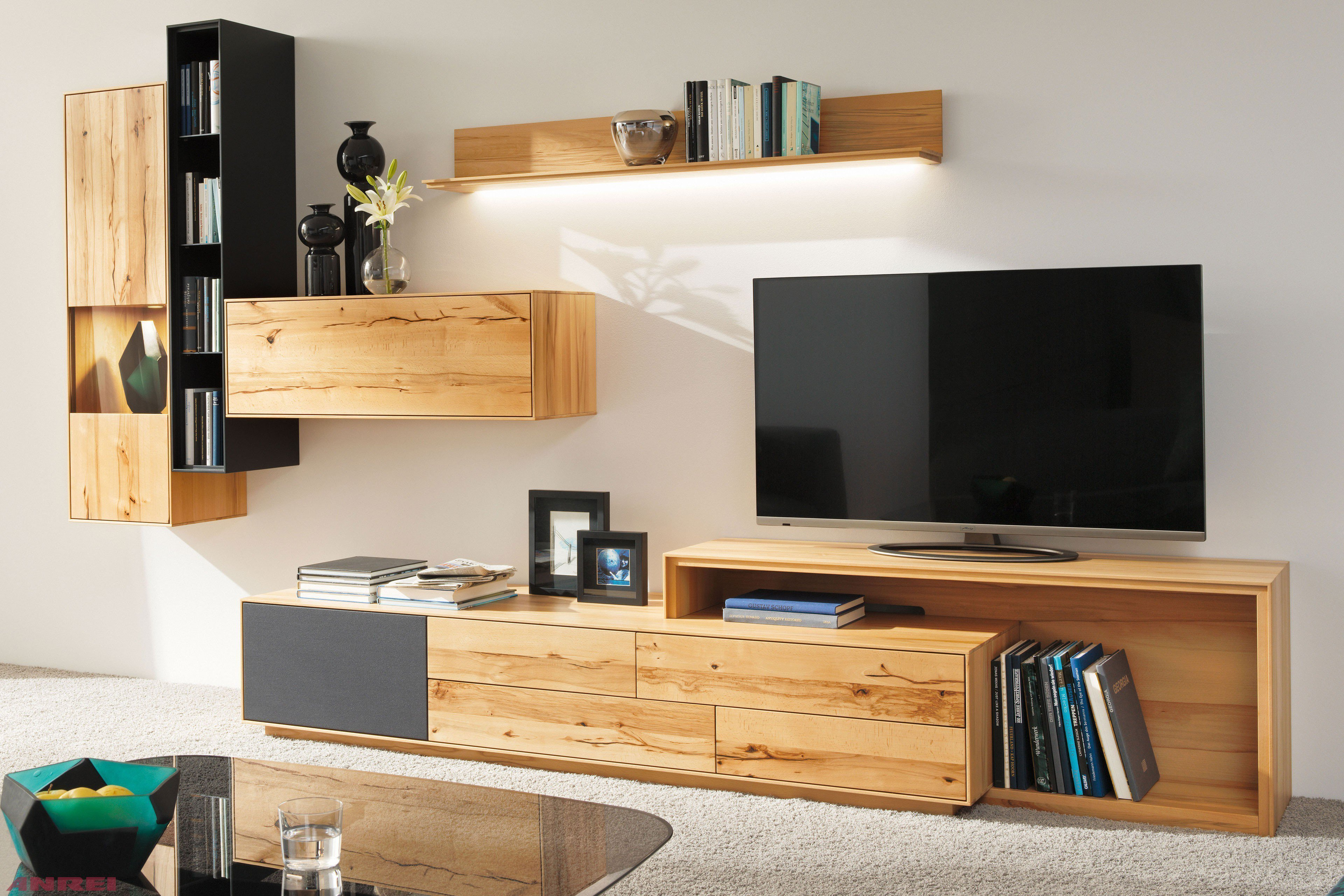 anrei wohnwand puro pu 02 kernbuche wildkernbuche m bel. Black Bedroom Furniture Sets. Home Design Ideas