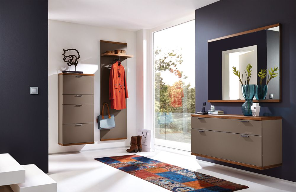 garderobe siena celesta z31418 in lack terra nussbaum nova von rietberger m bel letz ihr. Black Bedroom Furniture Sets. Home Design Ideas