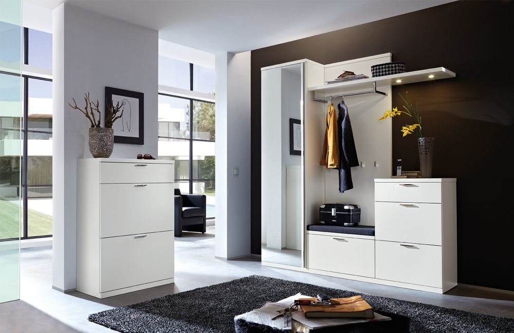 garderobe siena celesta z31418 in lack wei von rietberger m bel letz ihr online shop. Black Bedroom Furniture Sets. Home Design Ideas