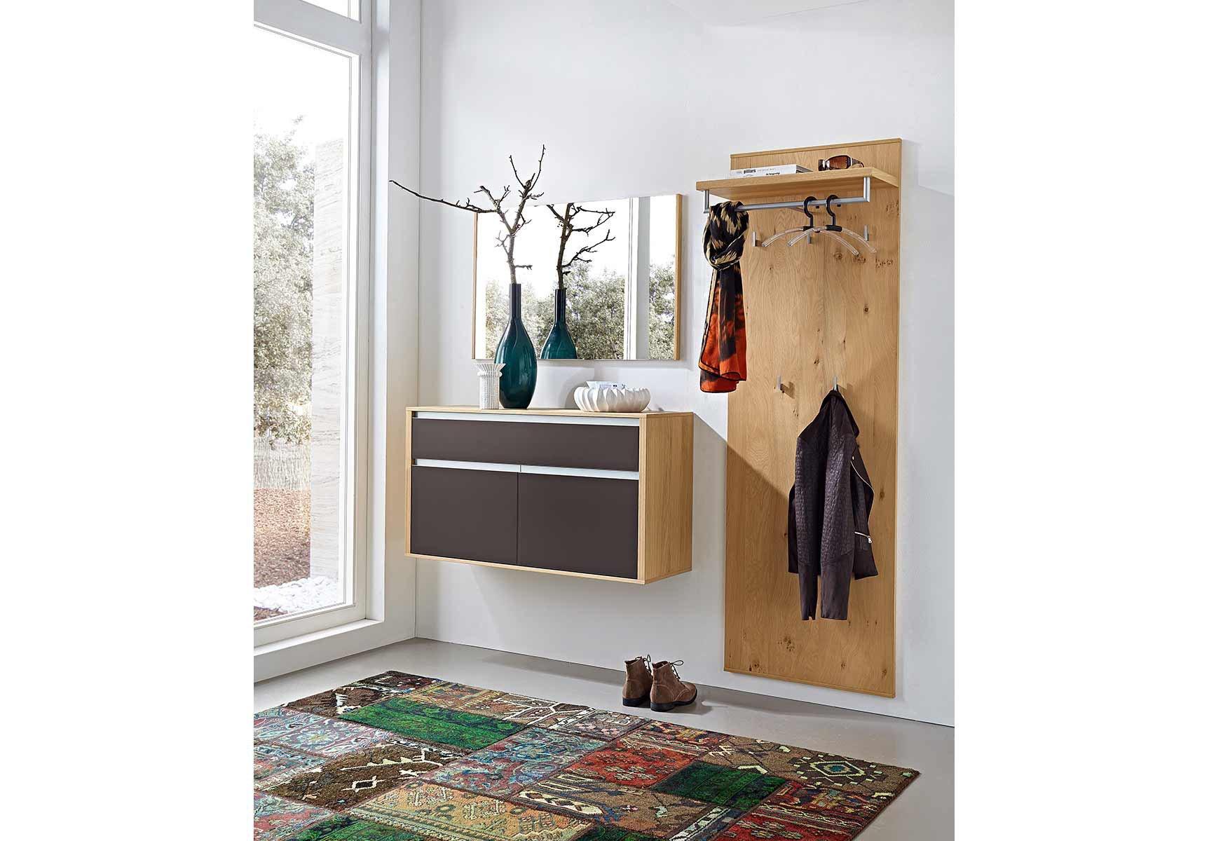 Leinkenjost garderobe bari aus eichenholz und schoko for Garderobe 60