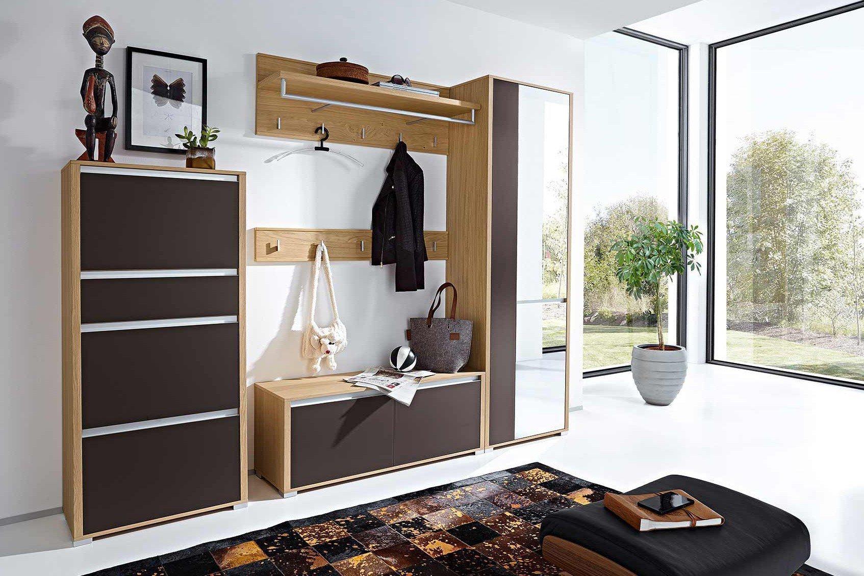 Bari Von Leinkenjost   Garderobe In Glas Schoko U0026 Eiche