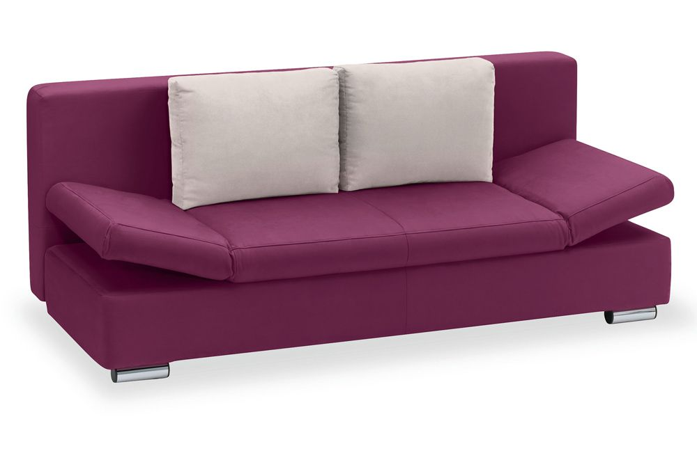 sedaro schlafsofa jeff in aubergine inkl kissen m bel letz ihr online shop. Black Bedroom Furniture Sets. Home Design Ideas