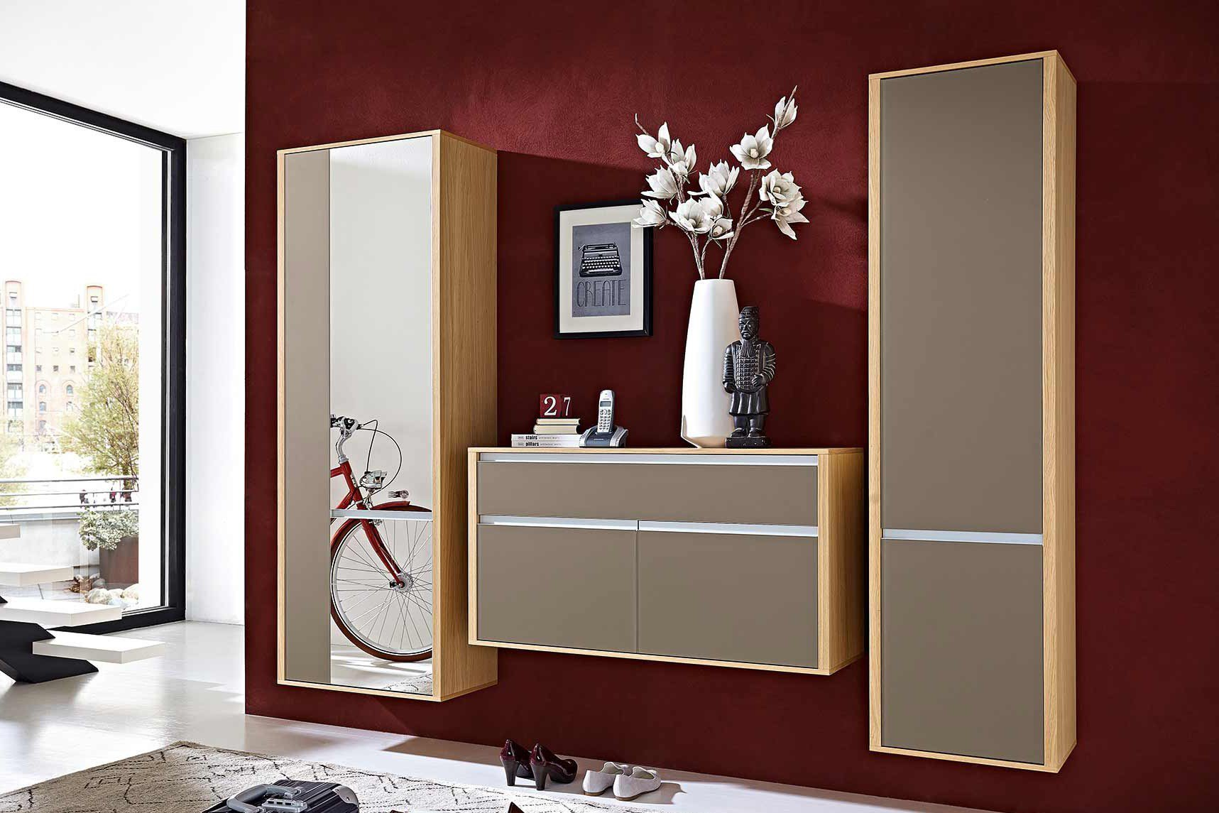 garderobe bari in eiche cappuccino von leinkenjost m bel letz ihr online shop. Black Bedroom Furniture Sets. Home Design Ideas