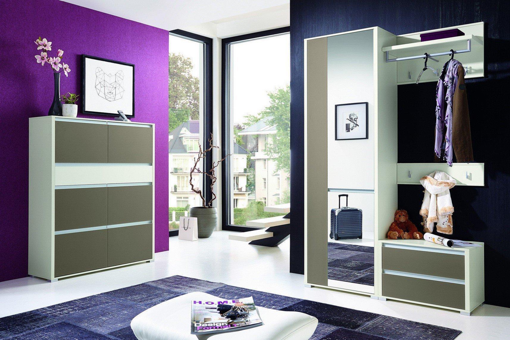 leinkenjost garderobe bari in wei und braune front. Black Bedroom Furniture Sets. Home Design Ideas