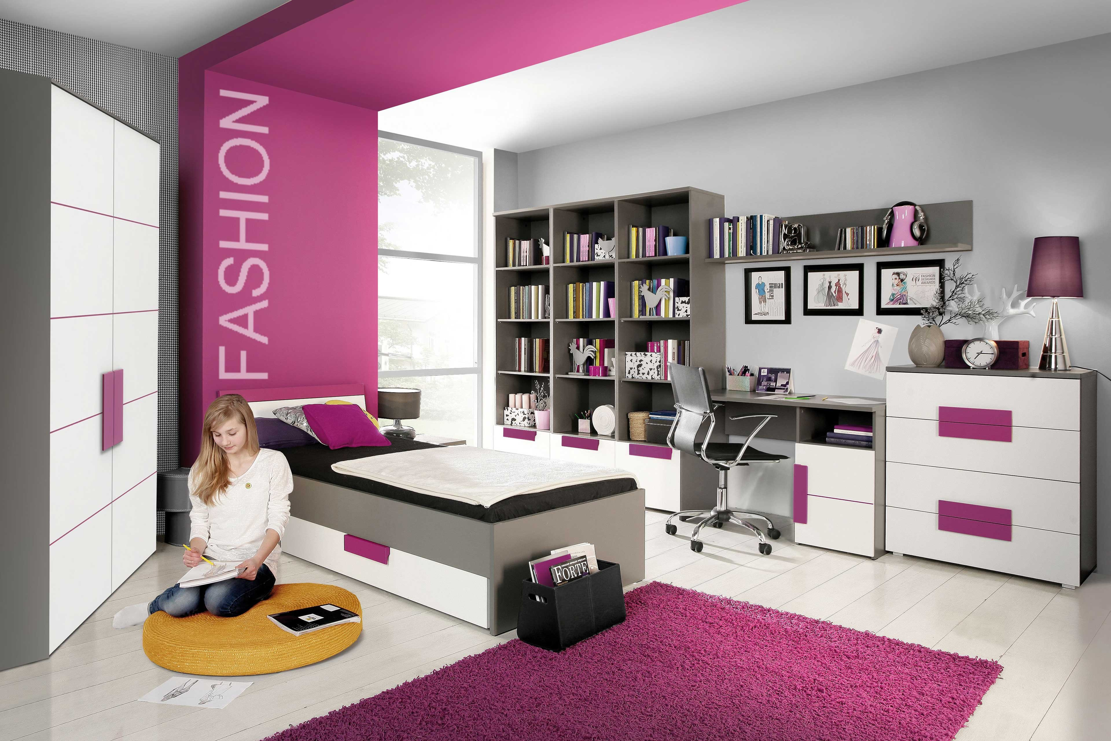 forte libelle jugendzimmer grau wei violett m bel letz ihr online shop. Black Bedroom Furniture Sets. Home Design Ideas