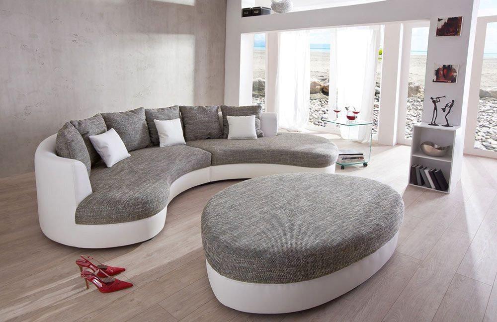 benformato limoncelli rundsofa grau wei m bel letz. Black Bedroom Furniture Sets. Home Design Ideas