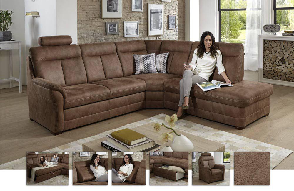 polipol cartago charil lincoln golda eckgarnitur braun m bel letz ihr online shop. Black Bedroom Furniture Sets. Home Design Ideas