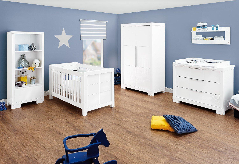 Babyzimmer weiß hochglanz  Pinolino Babyzimmer Star weiß Hochglanz | Möbel Letz - Ihr Online-Shop