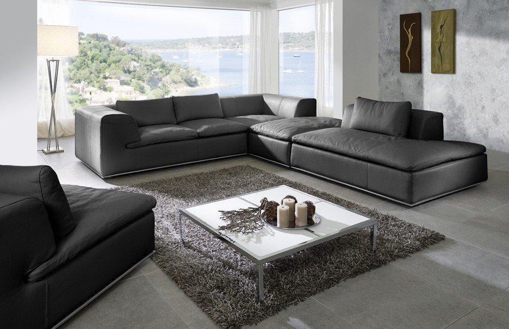 EMP Extasy 410 Ledersofa schwarz   Möbel Letz - Ihr Online-Shop