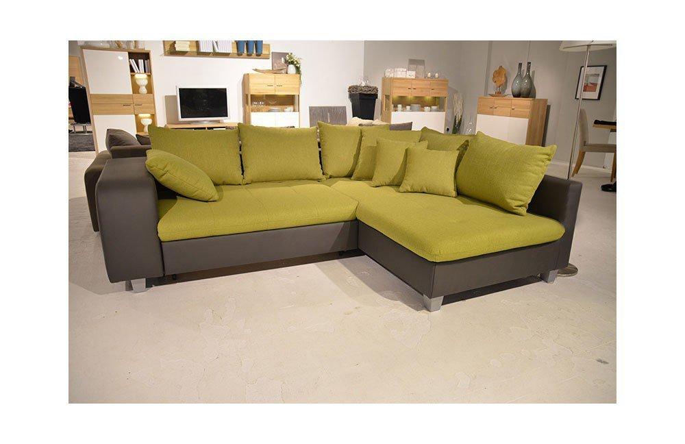 new look m bel smilie eckcouch gr n grau m bel letz ihr online shop. Black Bedroom Furniture Sets. Home Design Ideas