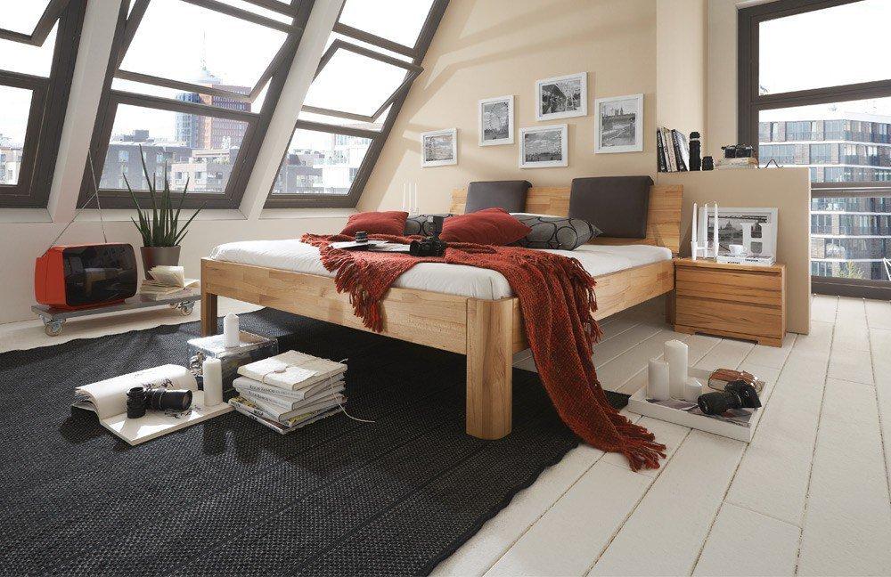 m&h Bett System C Kernbuchenholz| Möbel Letz - Ihr Online-Shop