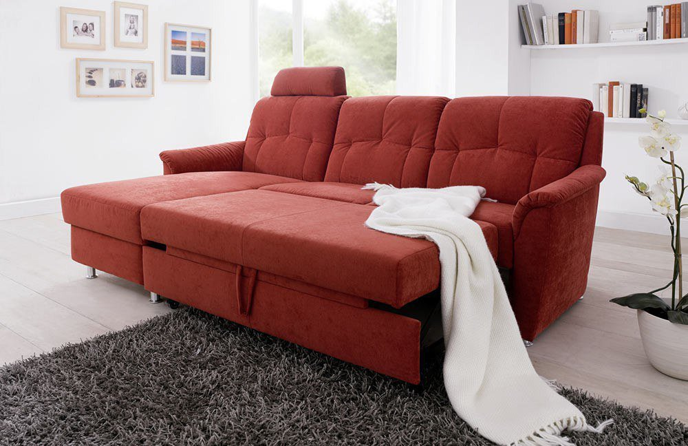 EMP Mosaik 880 Sofa rot   Möbel Letz - Ihr Online-Shop
