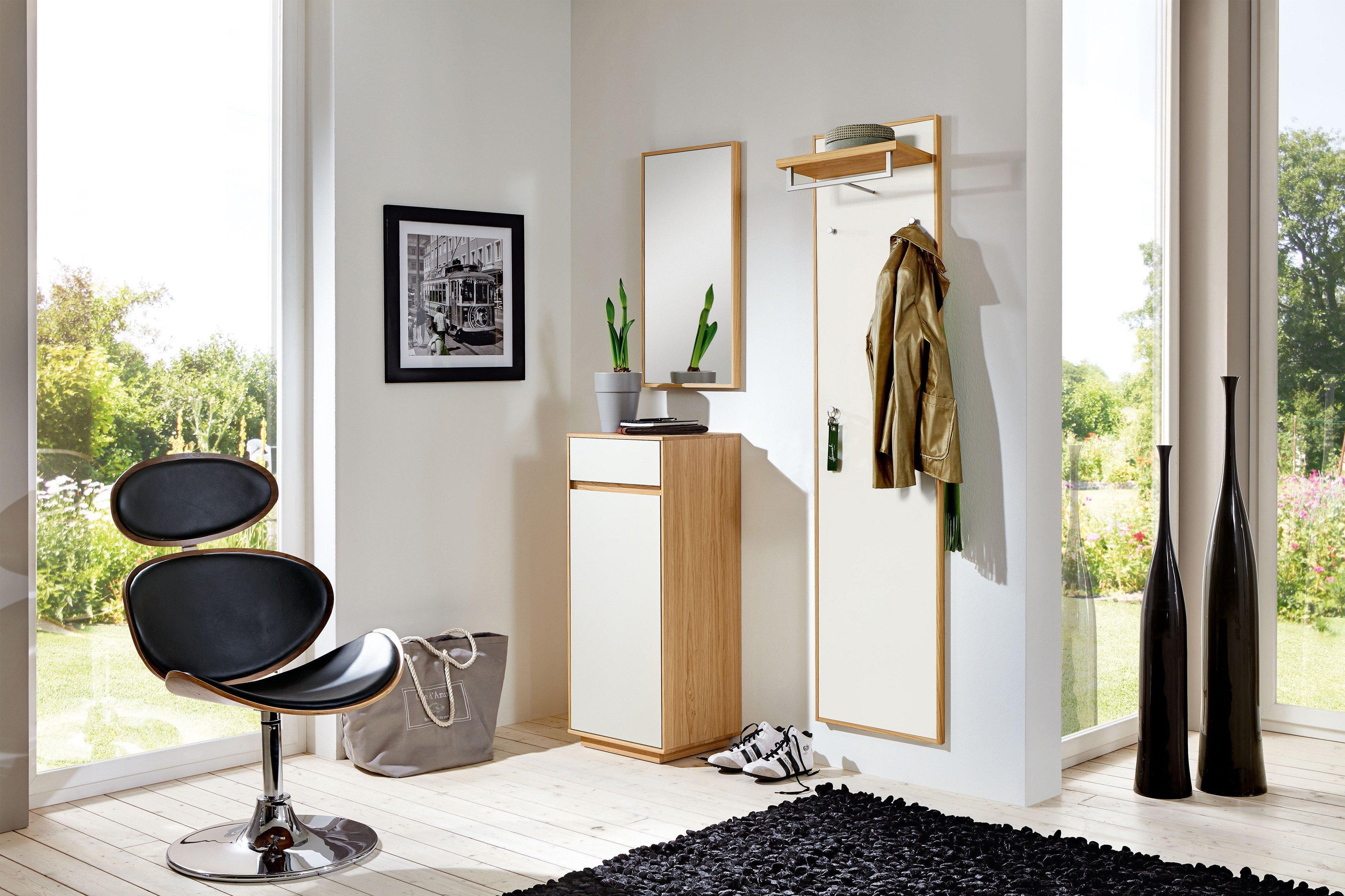 garderobe v100 vivia aus eichen holz mit wei er lackfront von voss m bel m bel letz ihr. Black Bedroom Furniture Sets. Home Design Ideas
