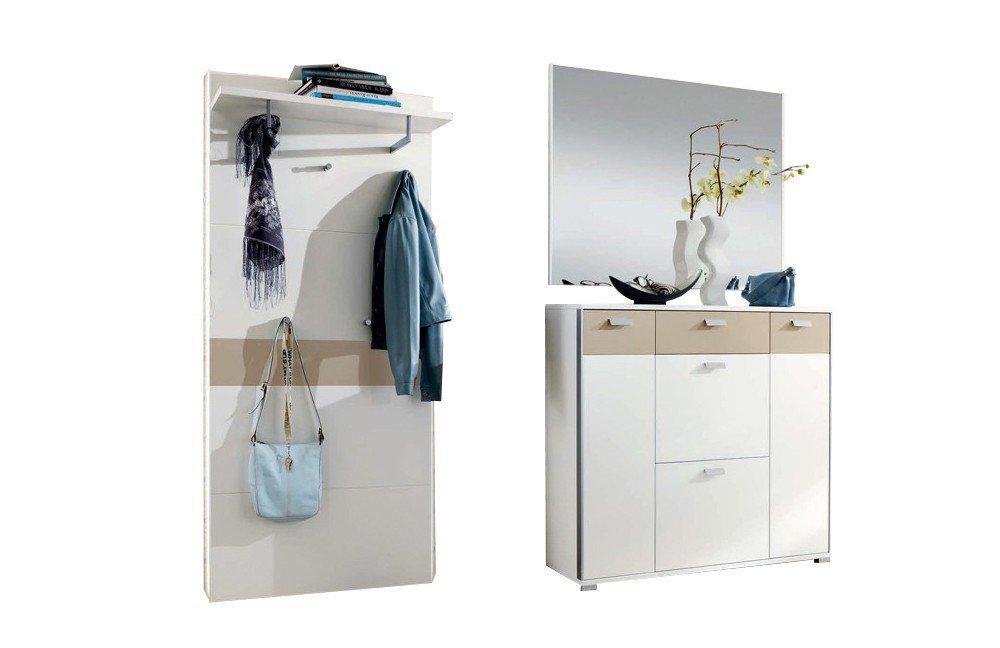 garderobe viola viveiro in lack wei sand von voss m bel. Black Bedroom Furniture Sets. Home Design Ideas