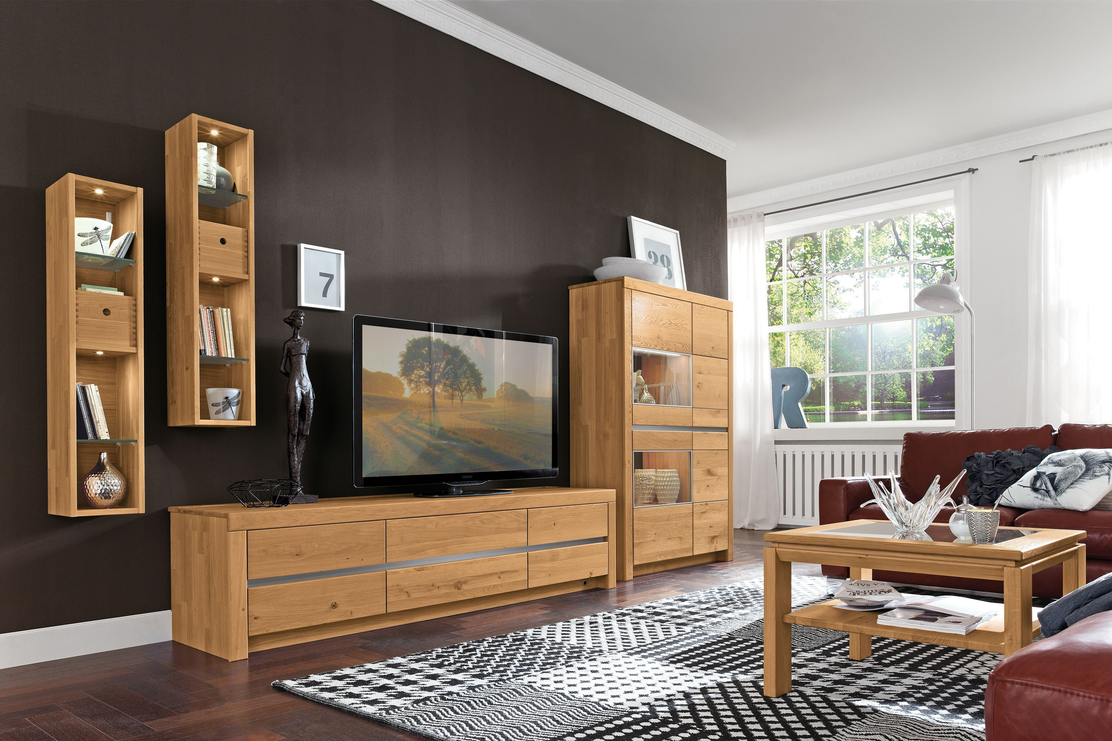 w stmann wohnwand linos 3001 massive wildeiche m bel letz ihr online shop. Black Bedroom Furniture Sets. Home Design Ideas