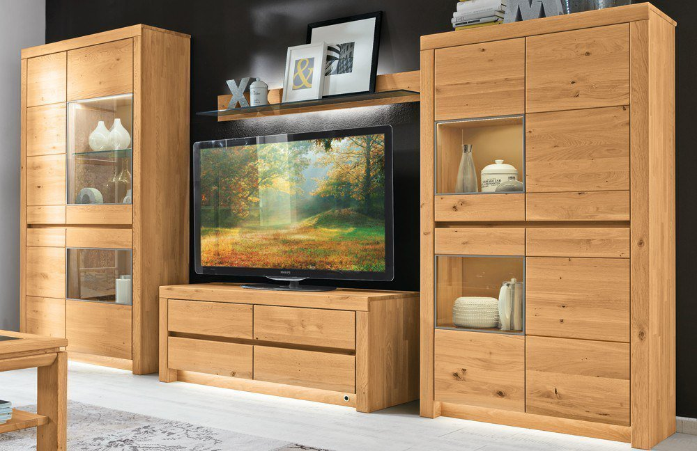 wohnwand soleo 3000 wildeiche von w stmann markenm bel m bel letz ihr online shop. Black Bedroom Furniture Sets. Home Design Ideas