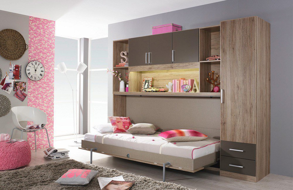 rauch albero extra schrankbett eiche grau m bel letz ihr online shop. Black Bedroom Furniture Sets. Home Design Ideas