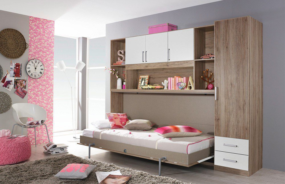 rauch albero extra schrankbett eiche grau m bel letz. Black Bedroom Furniture Sets. Home Design Ideas