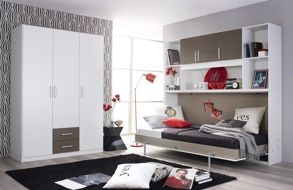 rauch albero extra jugendzimmer wei mit klappbett m bel. Black Bedroom Furniture Sets. Home Design Ideas